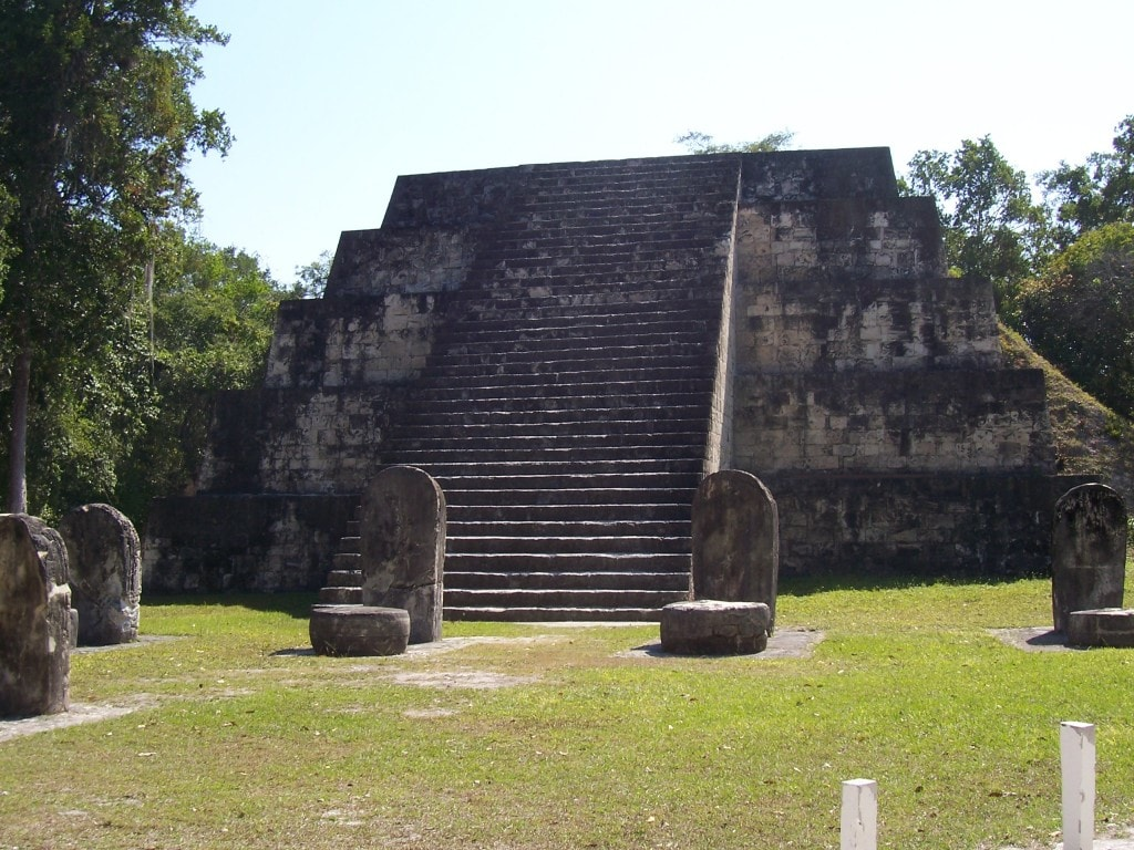 Tikal Ruins, Guatemala, Central America, ceremonial tables