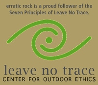 Leave no trace behind, the Erratic Rock hostel, puerto natales, chile