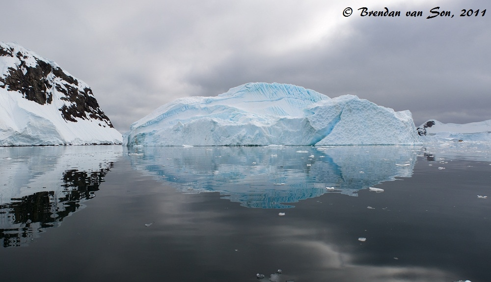 A Panoramic image of an iceberg in Antarctica