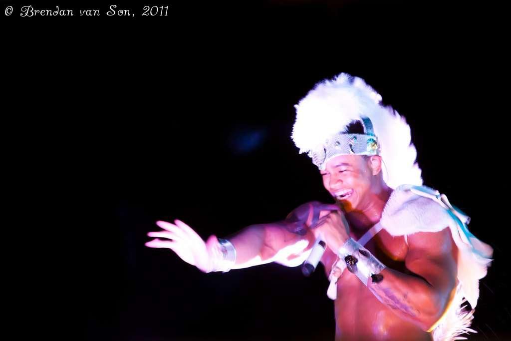 Parangole preforming at Carnival in Salvador de Bahia, Brazil. (Copyright Brendan van Son)