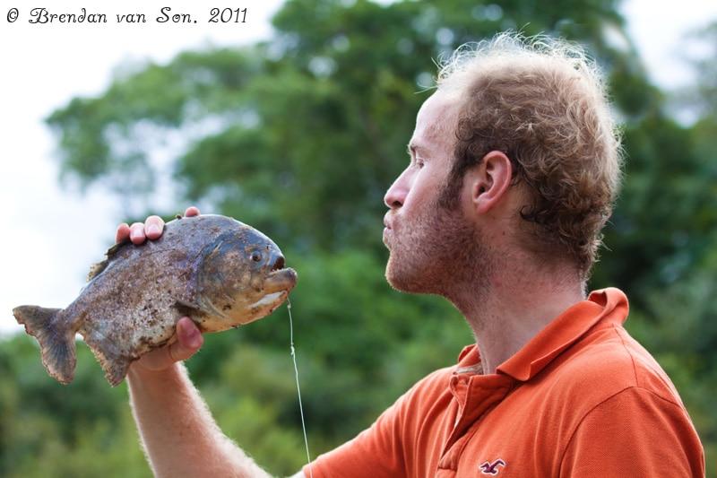 piranha, fishing, pantanal, brazil
