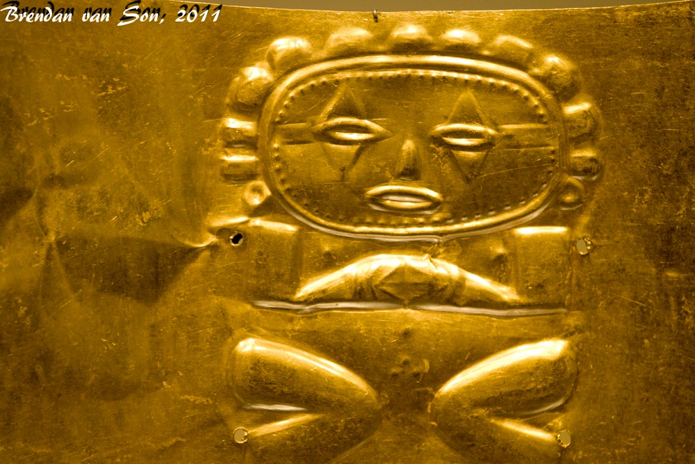Figure on a gold braclet
