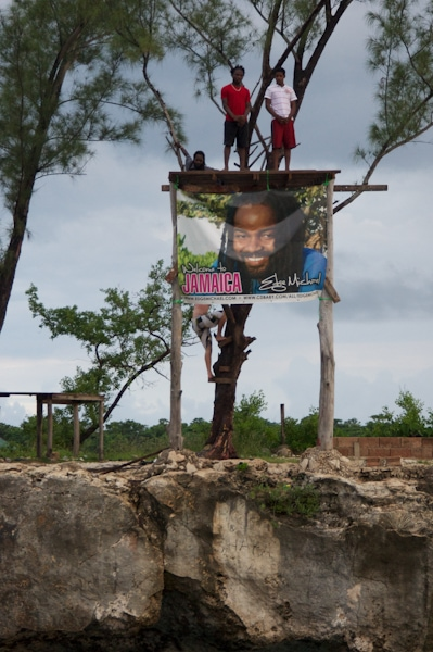 Rick's Cafe Cliff Diving BIllboard