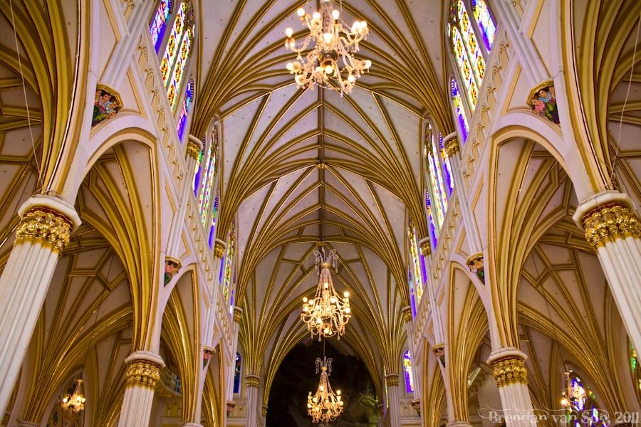 Inside Las Lajas Sanctuary