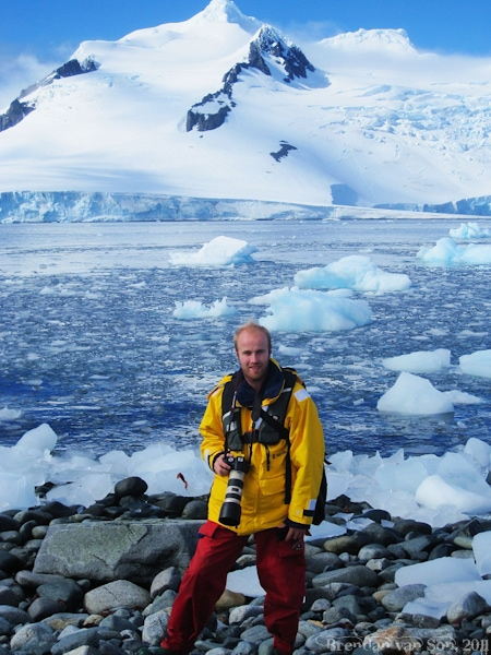 Brendan van Son in Antarcitca