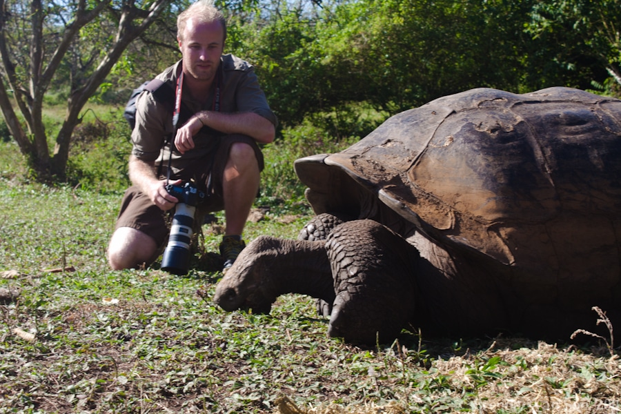 Brendan van Son in the Galapagos Islands