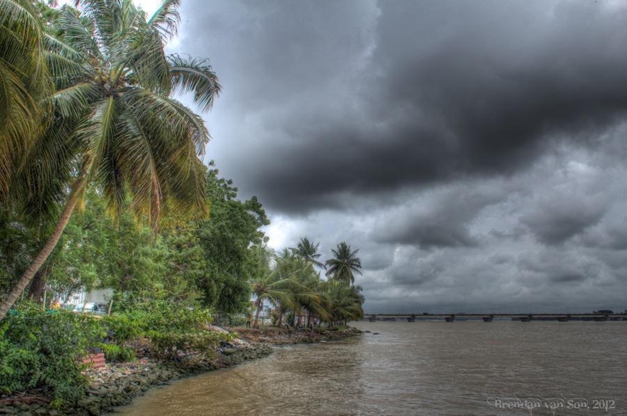 Abidjan Cote d'Ivoire River, lagune ebne, Ivory Coast, photo of Abidjan