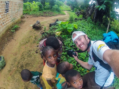 photographing kids in Guinea