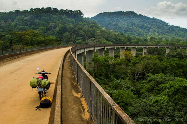 Paradise is a random bridge through the Cameroonian jungle.