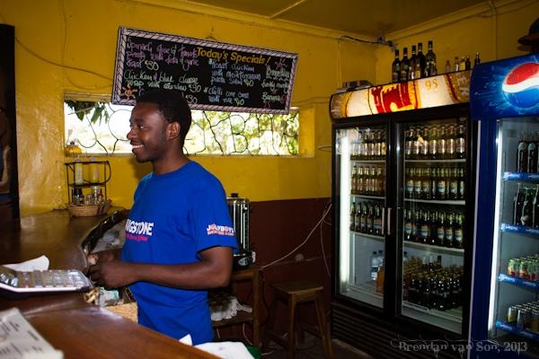 Livingstone, Zambia, bartender