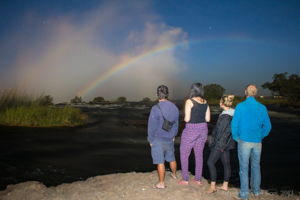 Livingstone, Zambia, lunar rainbow