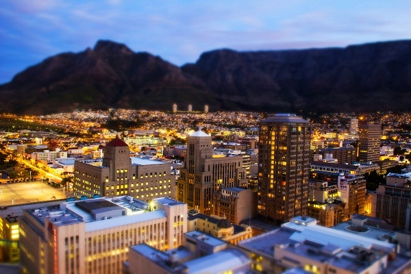 Tilt-shift Cape Town