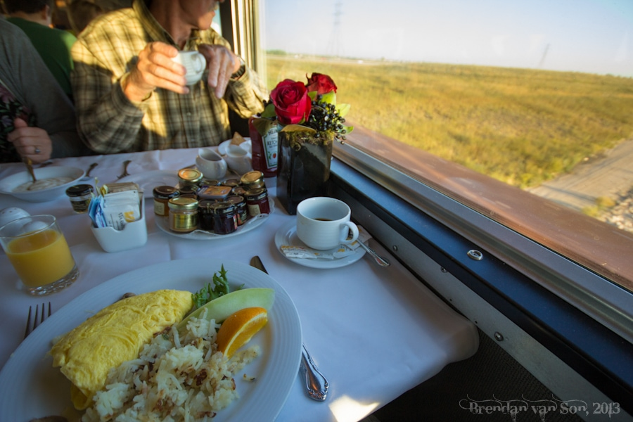 VIA, Train Across Canada, breakfast