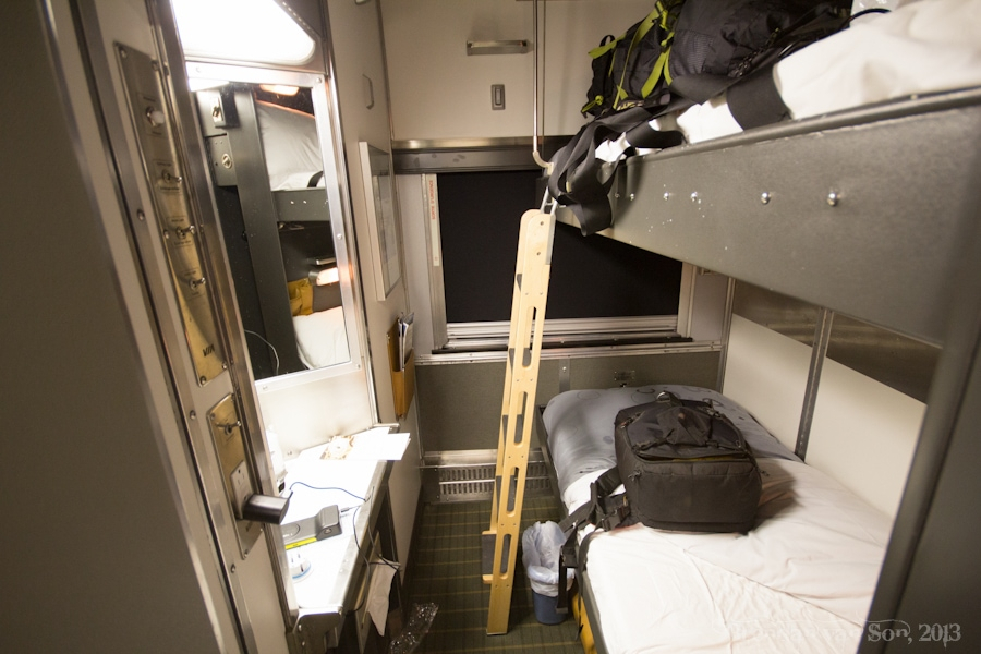 Via Rail, train across Canada, bedroom
