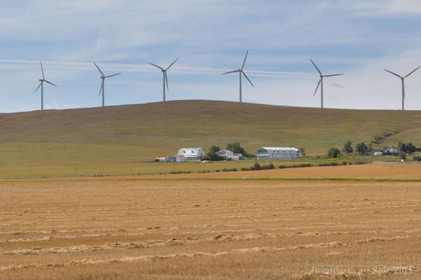 Cowboy Trail, windmills