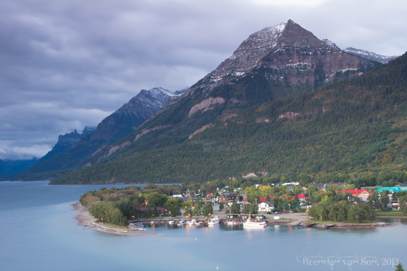 Waterton National Park, village