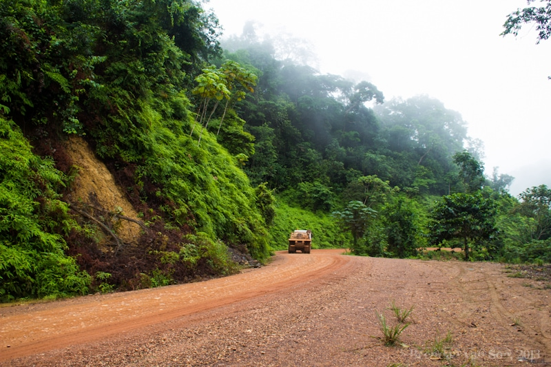 "March 30, 2013 - ""Gabonese Road"" Following Cameroon I made the push through the hardest part of western Africa.  This is the road to Lope National Park in Gabon."