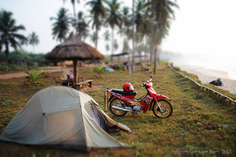 Ghana Pictures, Elmina Camping