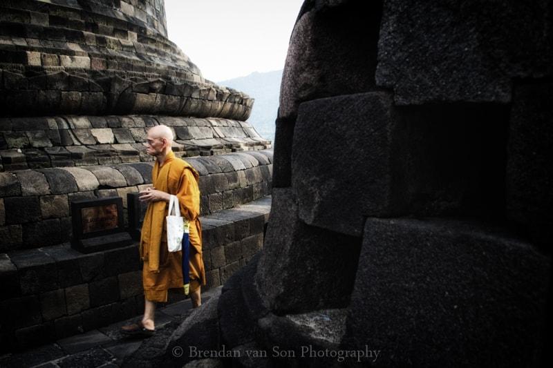 Monke Borobudur Temple