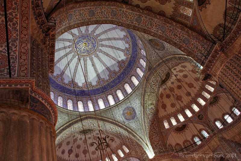 Blue mosque inside Istanbul