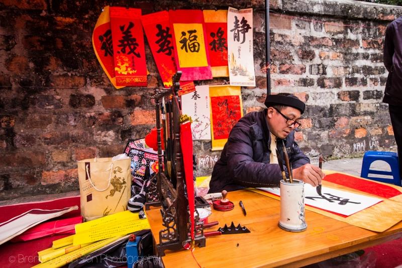 Calligraphy in Hanoi