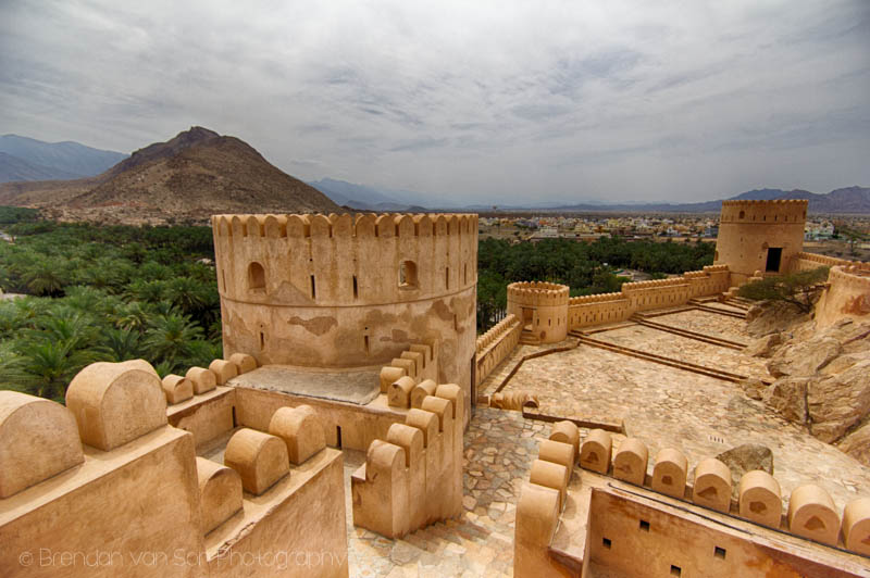 From the top of Nakhal Fort, Oman