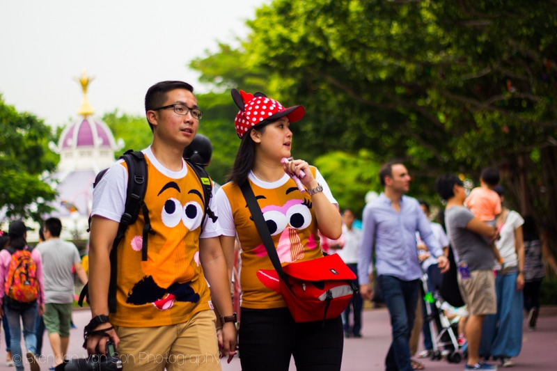 Hong Kong Disneyland couple