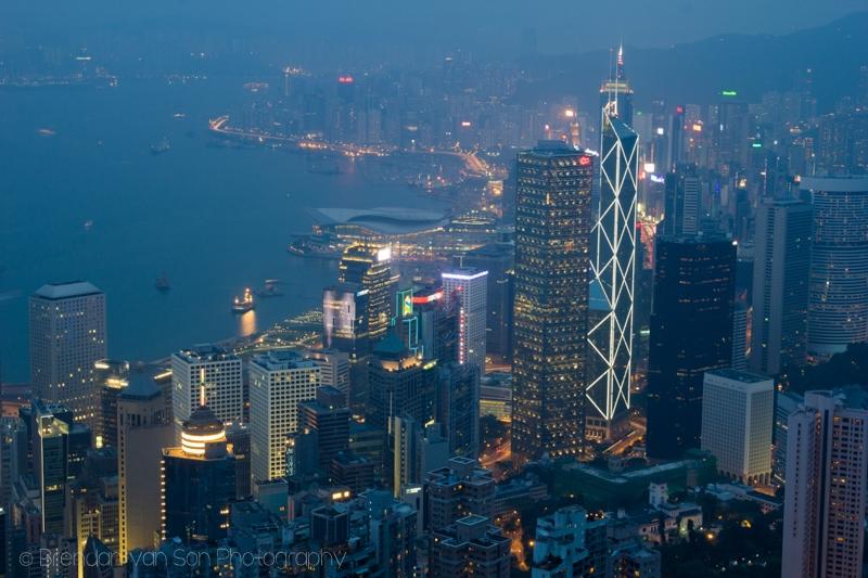 Hong Kong Skyline Victoria Peak