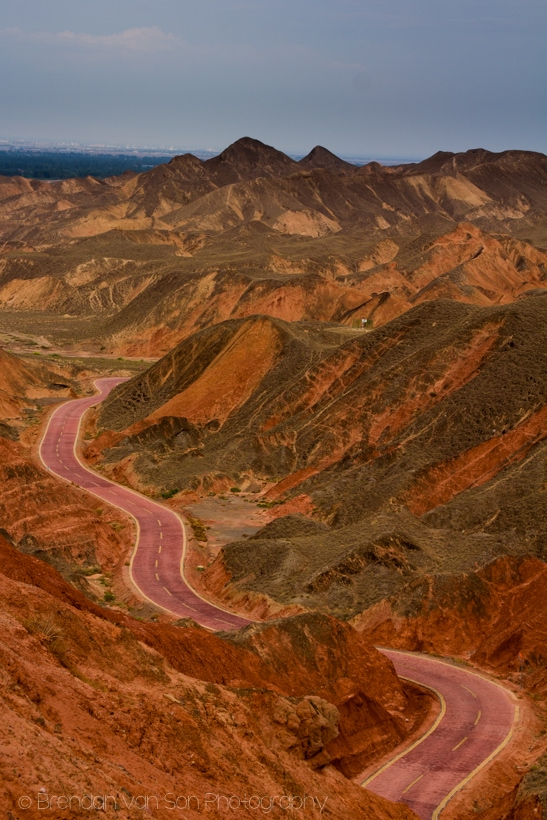 Danxia Rainbow Mountains Zhangye China-3