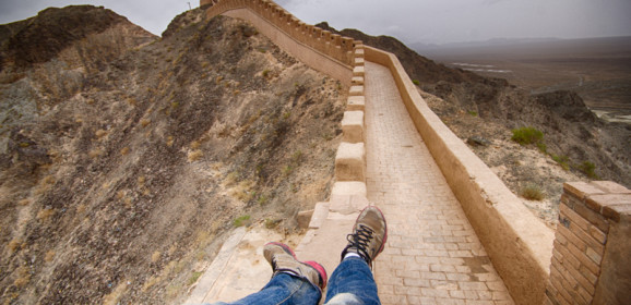 Visiting the Westernmost Section of the Great Wall of China in Jiayuguan