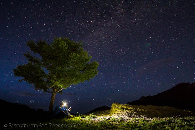 stars in Terelj National Park