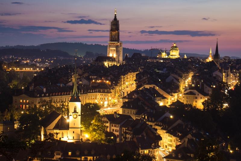 Bern, Switzerland, Photography, night