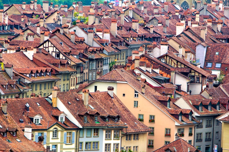 Bern, Switzerland, Photography, rooftops