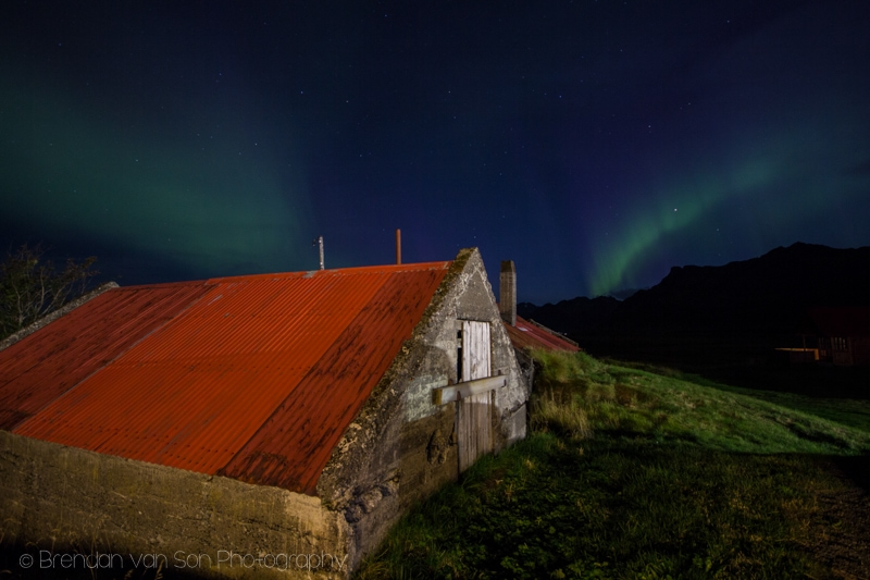 Northern lights near Hofn, Iceland