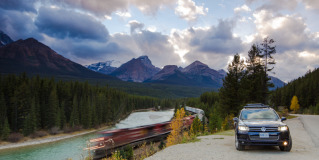 On Location with the Volkswagen Touareg in Banff National Park