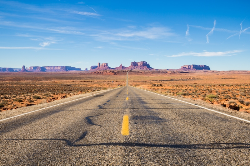 Forrest Gump's Road, Monument Valley