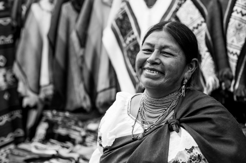 Black and White Photo, Otavalo Market