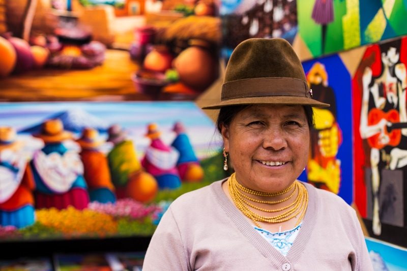 Lady in the Otavalo Market