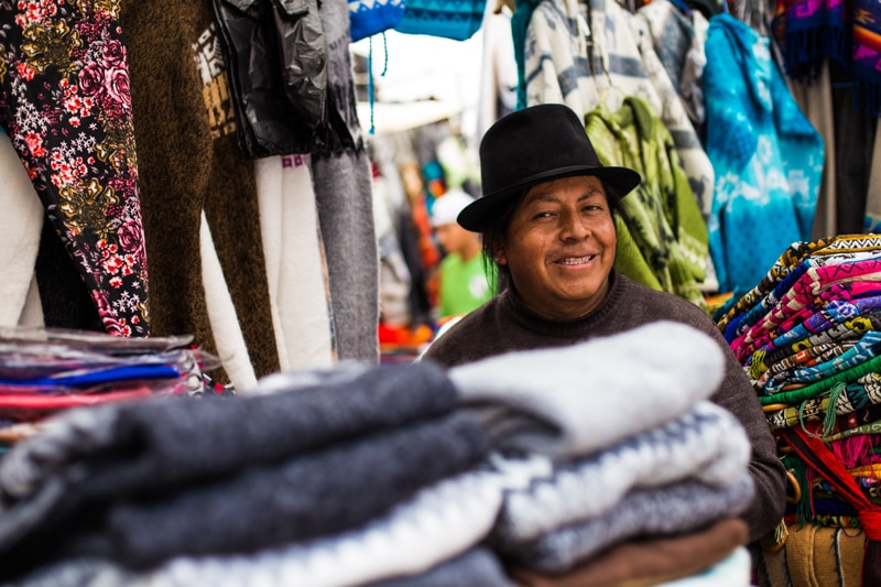 Man in the Otavalo Market