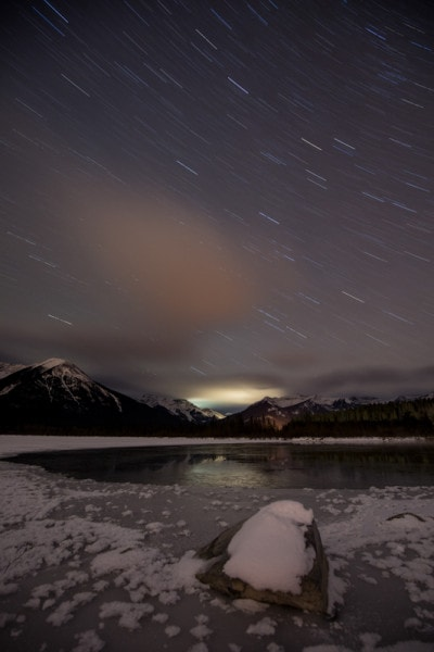 Banff Night Photography, Vermillion Lakes