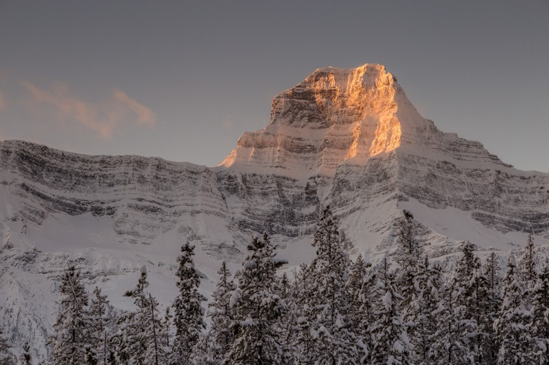 Icefields parkway winter