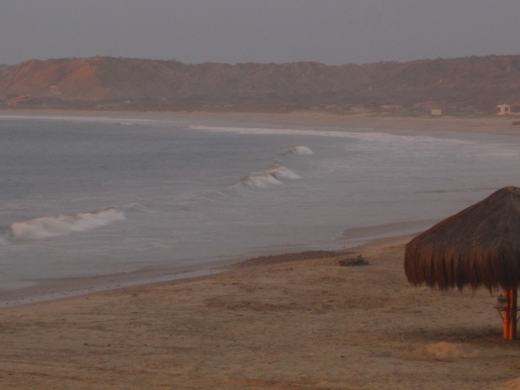 beach day, mancora, peru, south america, sunset