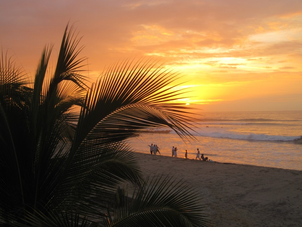 beach day, mancora, peru, south america, sunset