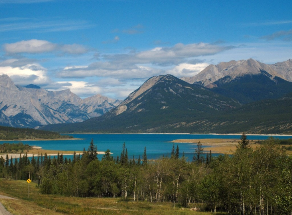 Abraham Lake, David Thompson Highway, Alberta, Canada
