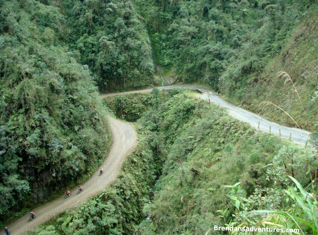 Death Road, Bolivia, turns