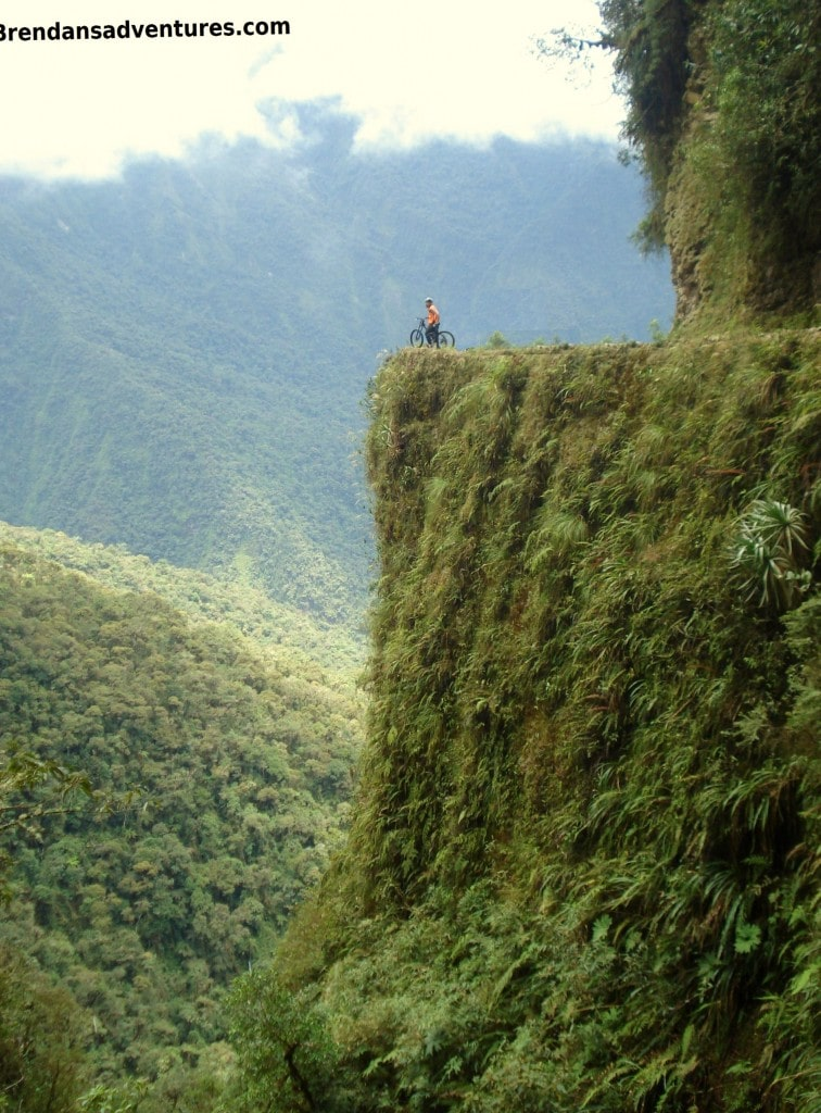Death Road, Bolivia, rider, mountain bike