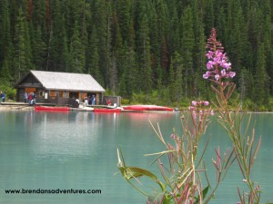 The old cabin on Lake Louise