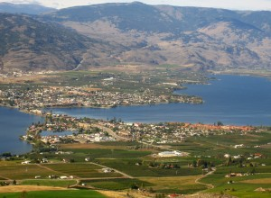 Looking onto Osoyoos, in the Okanagan Valley