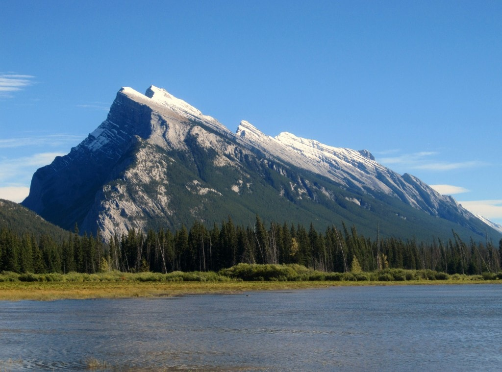 Mount Rundle and Vermilion Lake