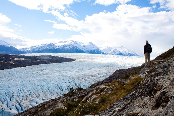 trekking Torres del Paine, hiking, chile, Glacier Grey
